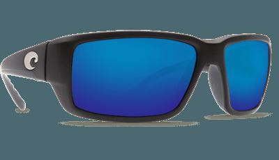 Picture of Fantail Sunglasses - Matte Black/Blue Mirror 580G