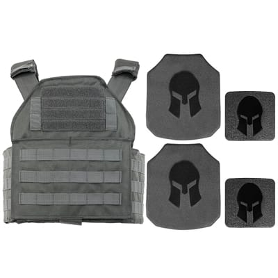 Picture of AR550 Body Armor & Spartan Shooters Cut PC Package - Wolf Grey