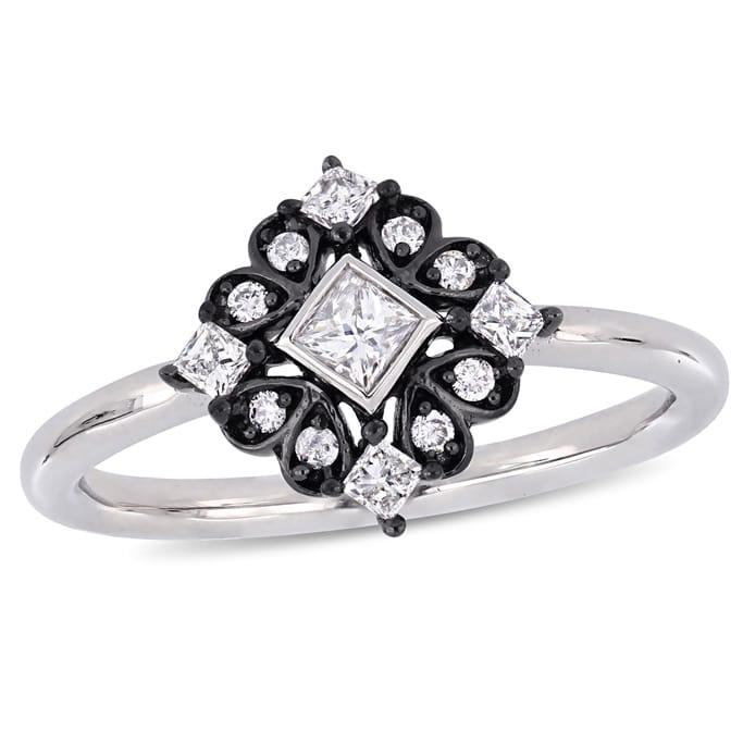 5e828af16 Diamond Jewelry - 1/3 CT TW Princess and Round-Cut Diamond Bohemian ...