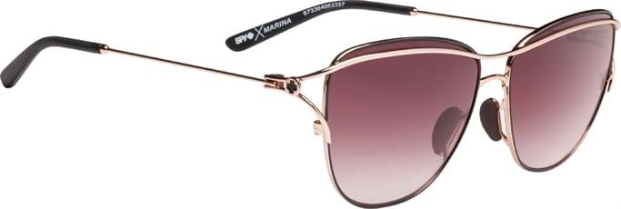 f78ef267d92df Marina Sunglasses - Rose Gold Black - Happy Merlot Fade