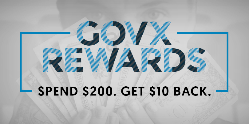 Here's How GOVX REWARDS Work: Spend $200, Get $10 Back