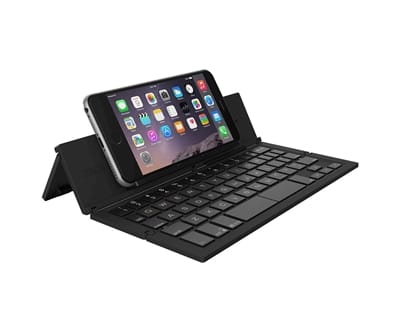 Picture of Pocket Keyboard Foldable Wireless Mobile Keyboard and Stand - Black