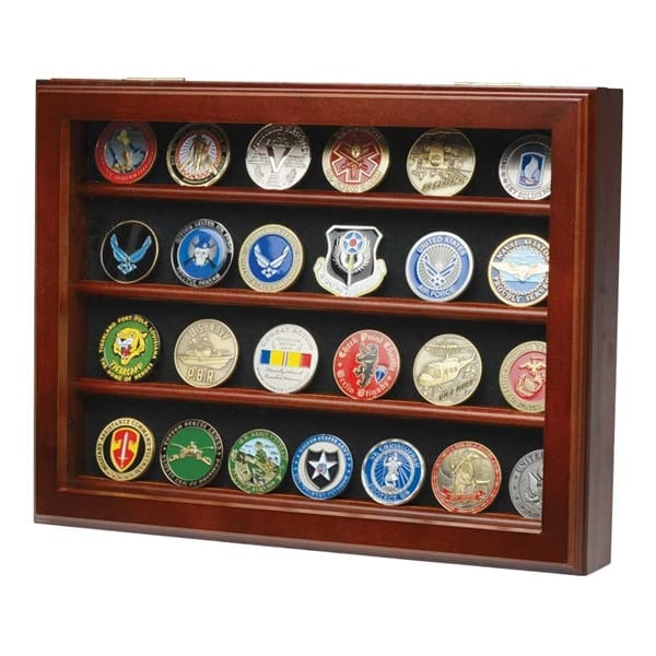 Medals of America - 32 Coin Wall Mount Coin Display Case