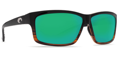 Picture of Men's Cut Polarized Sunglasses - Coconut Fade/Green Mirror 580P