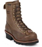 "Picture of Men's 8"" Bay Apache Waterproof Steel Toe Lace Logger - M - 10"