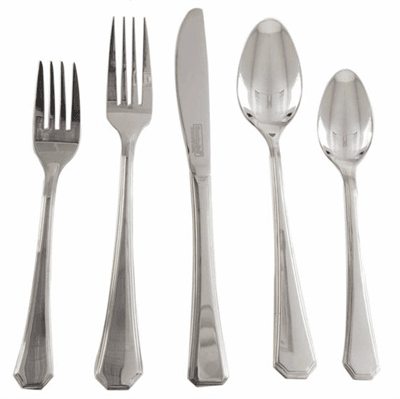 Picture of Everyday Flatware Set - 20 Piece - Silver