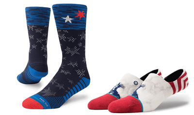 Picture of Men's Patriotic High & Low Sock Bundle - 2 Pairs - Variety - L