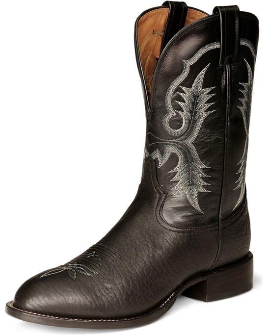 717cc65adf7 Tony Lama - Men's Black Bullhide Boots - CT2036 Military Discount | GovX
