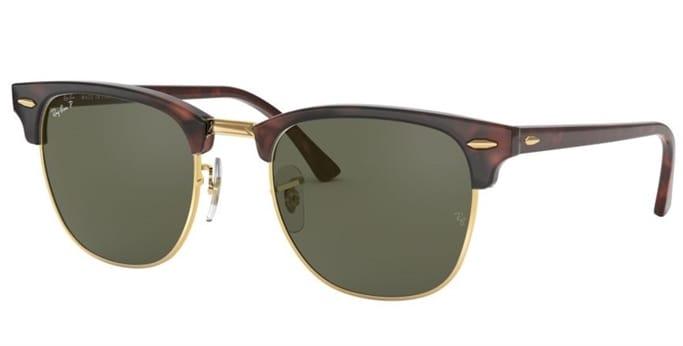 64ddf27cad447 Clubmaster Polarized Sunglasses - Tortoise Green Classic G-15 - 51 - 21