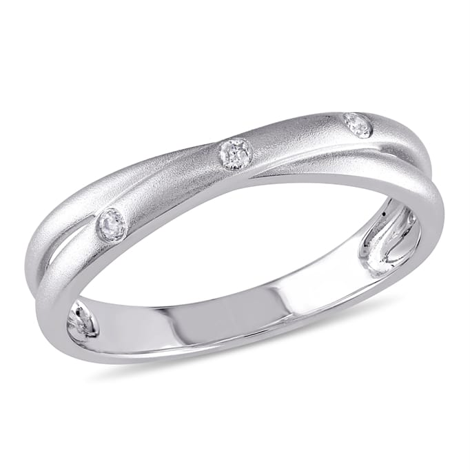 Diamond Jewelry Clearance Diamond Crossover Anniversary Band In
