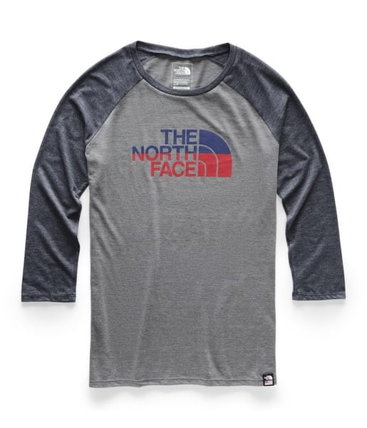 ef4934baa The North Face - Women's 3/4 Americana Tri-Blend Baseball T-Shirt ...